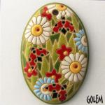 Spring Meadow - large oval pendant
